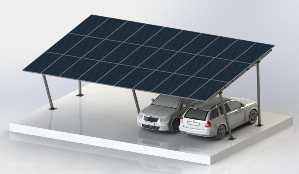 Carport Solar para 30 Módulos