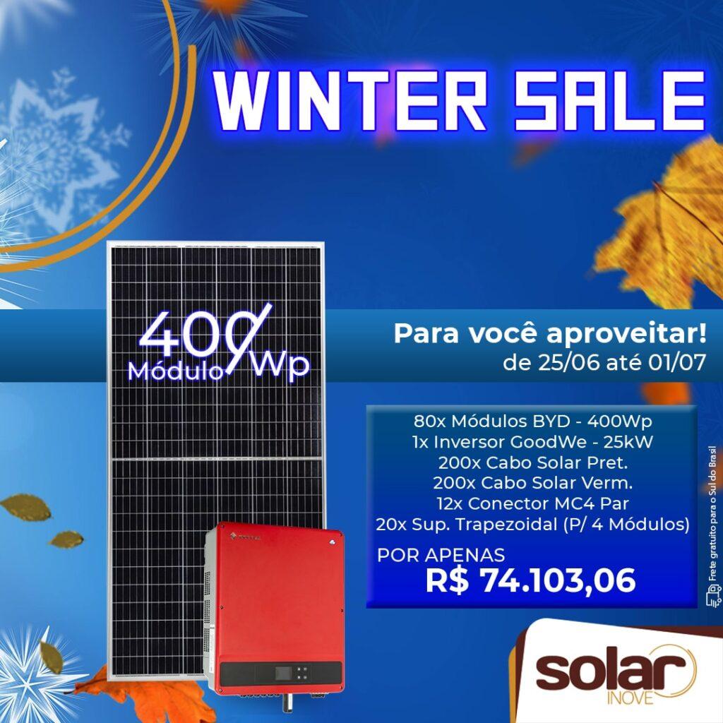 Promoção de Inverno de 25kW