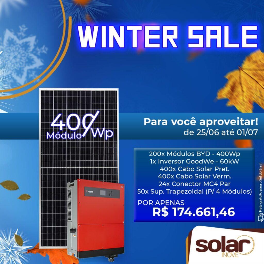 Promoção de Inverno de 60kW