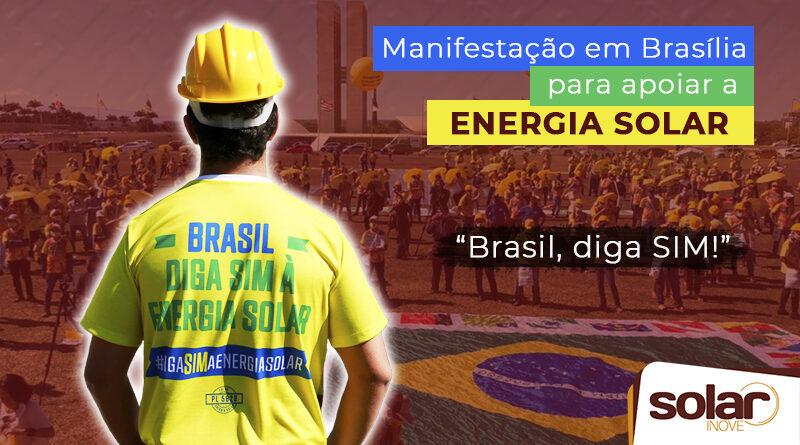 Manifestação a favor da energia solar