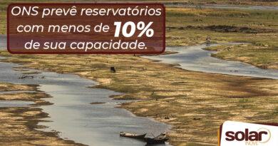 ONS prevê reservatórios com menos de 10% de sua capacidade
