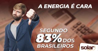 Para 83% dos Brasileiros a Energia é Cara