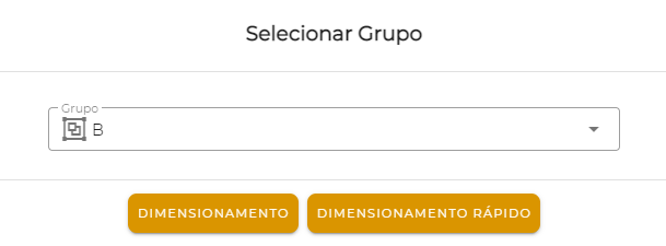 Grupo B selecionado no engenheiro virtual